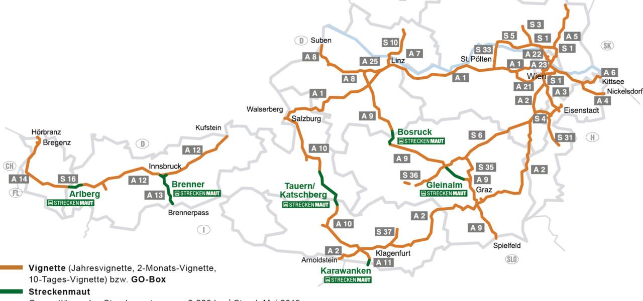 Cartina Austria Stradale.Pedaggio Autostradale In Austria La Vignette