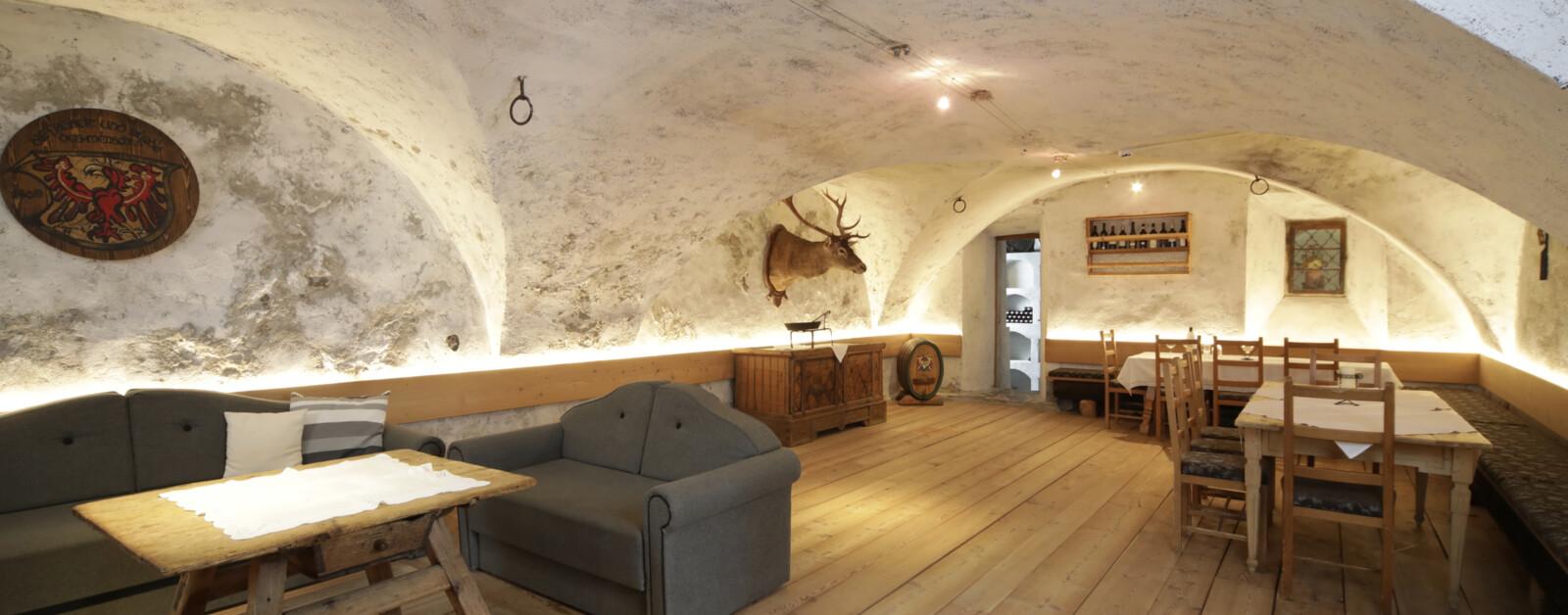Der Gewölbekeller im Hotel Gasthof Unterwöger